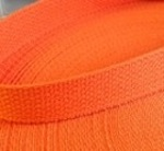 "1"" Orange Cotton Webbing"